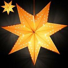 SSITG Weihnachtsstern 2x Stern mit Beleuchtung Leuchtstern Adventsstern Lampe