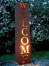 SSITG Welcome Säule H.100 Pflanzsäule Gartendeko