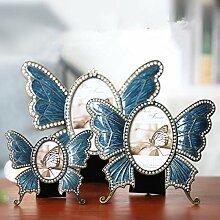 SSJIA Schmetterling Metall Fotorahmen Bild 3 Zoll