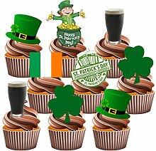 St Patrick's Day Party-Set essbare Cupcake-Dekoration (36Stück)