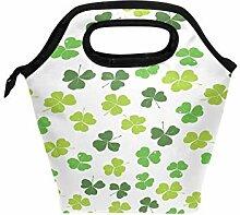 St Patricks Day Clover Lunchbox Handtasche für