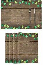 St. Patricks Day Platzsets Set von 4 Leprechaun