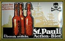 St. Pauli Actien-Bier Blechschild, 30 x 20 cm