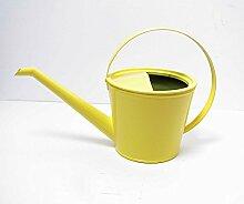 Stabile Gießkanne Metall gelb für 1,5 Liter Kanne Deko-Kanne Gartenkanne