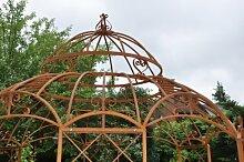 STABILER Garten - Pavillon aus Metall Roheisen / Rost Ø 400cm