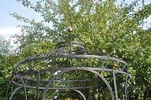 Stabiler Gartenpavillon aus Metall, schwarz, Pavillon Ø 180cm