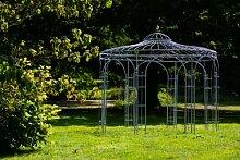 Stabiler Gartenpavillon aus Metall, verzinkt 250cm , Pavillon in Schwarz, Weiß, Tannengrün oder Anthrazi