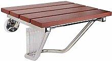 Stabiler Holz-Duschklappsitz für Dusche, Bad oder