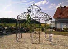 STABILER Pavillon Gartenpavillon Metall Verzinkt + pulverbeschichtet Ø 340cm - in schwarz, weiß, grün oder anthrazi