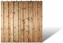 """Stabiles Holz Gartenzaun Sichtschutzelement im Maß 180 x 180 cm (Breite x Höhe) aus Kiefer/Fichte Holz, druckimprägniert """"Bochum"""