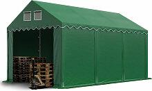 Stabiles Lagerzelt 3x6 m Zelthalle mit Bodenrahmen