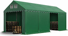 Stabiles Lagerzelt 4x8 m Zelthalle mit Bodenrahmen