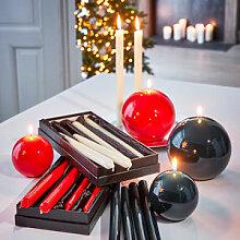 Stabkerzen: Edel glänzende Lack-Kerzen als