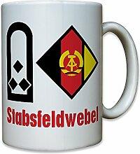 Stabsfeldwebel NVA DDR Nationale Volksarmee Dienstgrad Rang Schulterklappe Wappen Abzeichen Emblem - Tasse Kaffee Becher #10859