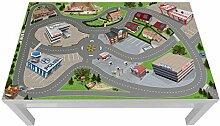Stadt/ City/ Auto/ Straße Möbelfolie / Aufkleber - LCG05 - passgenau für den LACK Couchtisch (118 x 78 cm) von IKEA - In wenigen Minuten zum einzigartigen Spieltisch für Kinder! (Möbel nicht inklusive)
