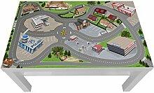Stadt/ City/ Auto/ Straße Möbelfolie / Aufkleber - LCK05 - passgenau für den LACK Couchtisch (90 x 55 cm) von IKEA - In wenigen Minuten zum einzigartigen Spieltisch für Kinder! (Möbel nicht inklusive)