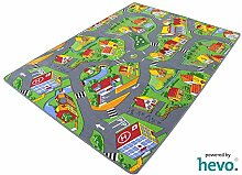 Stadt Land Fluss Prägerücken HEVO® Teppich | Spielteppich | Kinderteppich 140x200 cm