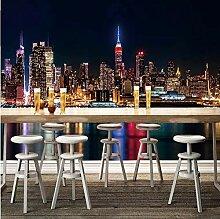 Stadt Nachtansicht Benutzerdefinierte 3D