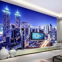 Stadt Nachtsicht 3D Fototapete Für Wohnzimmer