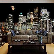 Stadt nachtszene Hochwertige Wandmalerei 3D