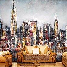 Stadt Wandbilder überstreichbare Tapete