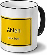 Städtetasse Ahlen - Design Ortsschild