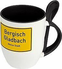 Städtetasse Bergisch Gladbach - Löffel-Tasse mit