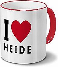 Städtetasse Heide - Design I Love Heide