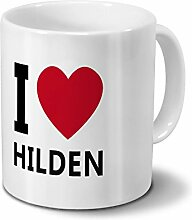 Städtetasse Hilden - Design I Love Hilden