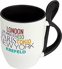 Städtetasse Krefeld - Löffel-Tasse mit Motiv