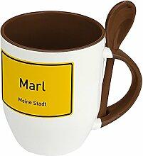 Städtetasse Marl - Löffel-Tasse mit Motiv