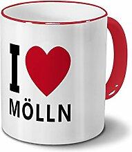 Städtetasse Mölln - Design I Love Mölln