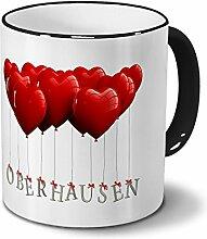 Städtetasse Oberhausen - Design Herzballons -