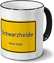 Städtetasse Schwarzheide - Design Ortsschild