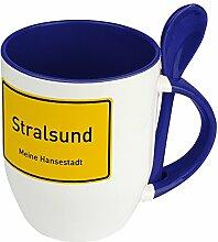Städtetasse Stralsund - Löffel-Tasse mit Motiv