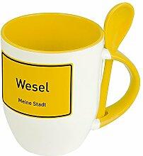 Städtetasse Wesel - Löffel-Tasse mit Motiv