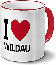 Städtetasse Wildau - Design I Love Wildau