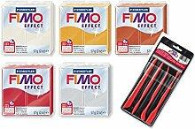 Staedtler Fimo Effekt Metallic Farben, 5Stück