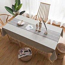 Stafeny 1 x rechteckige Tischdecke aus Baumwolle