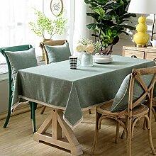 Stafeny Rechteckige Tischdecke aus Baumwolle und