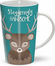 Staggeringly Handsome - Hübscher Hirsch - Mug - Becher - Latte