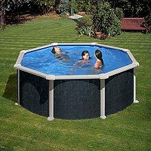 Stahl-Pool Gre Aspekt Rattan Ø 460 x 120 cm