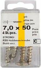 """Stahl Schrauben zum Befestigen von Einschlagbodenhülsen am Pfosten 9 x 9 cm """"Friesenzaun"""