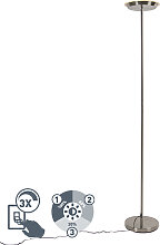 Stahl Stehlampe 3-stufig dimmbar inkl. LED und