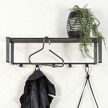Stahl Wandgarderobe in Anthrazit Loft Design