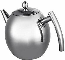 Stahl Wasserkrug, langlebige Edelstahl Teekanne