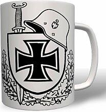 Stahlhelm m16ek Schwert Schild - Tasse Becher Kaffee #279