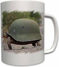 Stahlhelm Schildkröte Humor Spaß Geschenk Idee- Tasse Becher Kaffee #7392