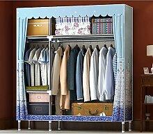 Stahlrohr verstärkter doppelter Einbauschrank / einfacher Tuch Kleiderschrank ( stil : 1 )