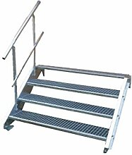 4 Stufen Treppenrahmen Stahl-Treppenwange Treppenholm Geschosshöhe 72cm Grau